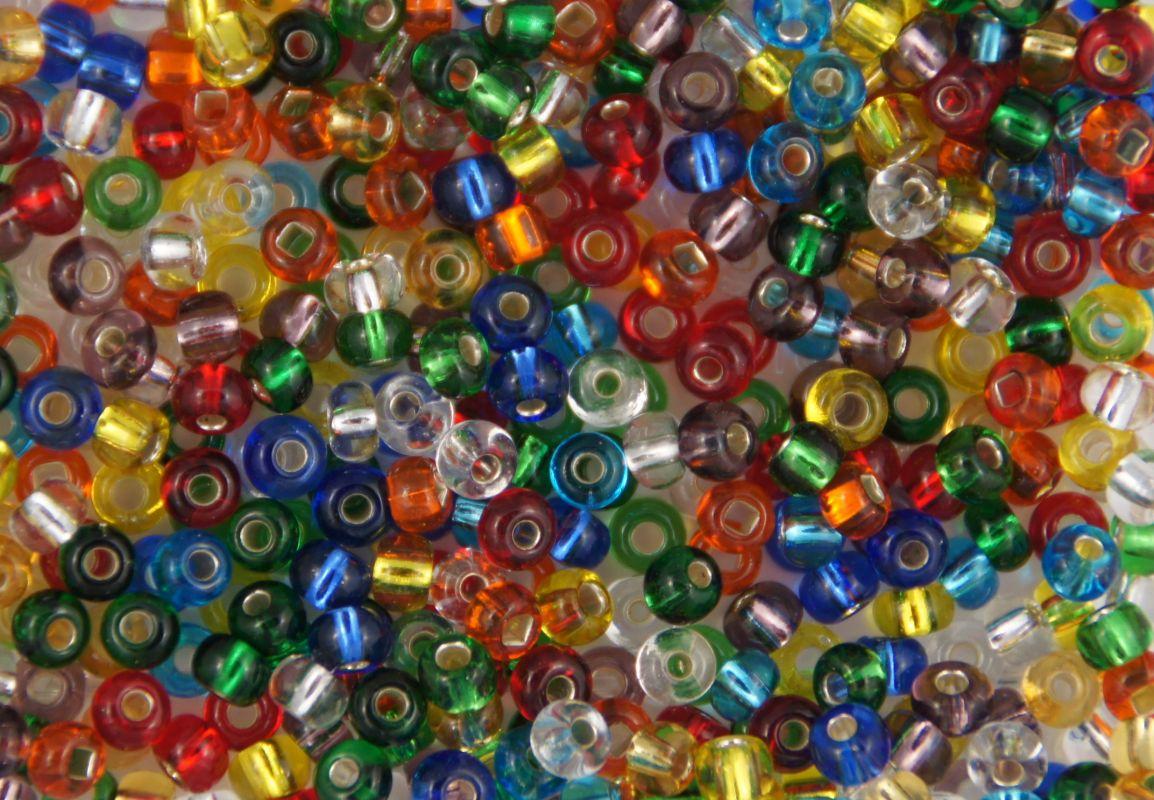 Korálek kulička díl třpytka nástraha transparentní mix barev