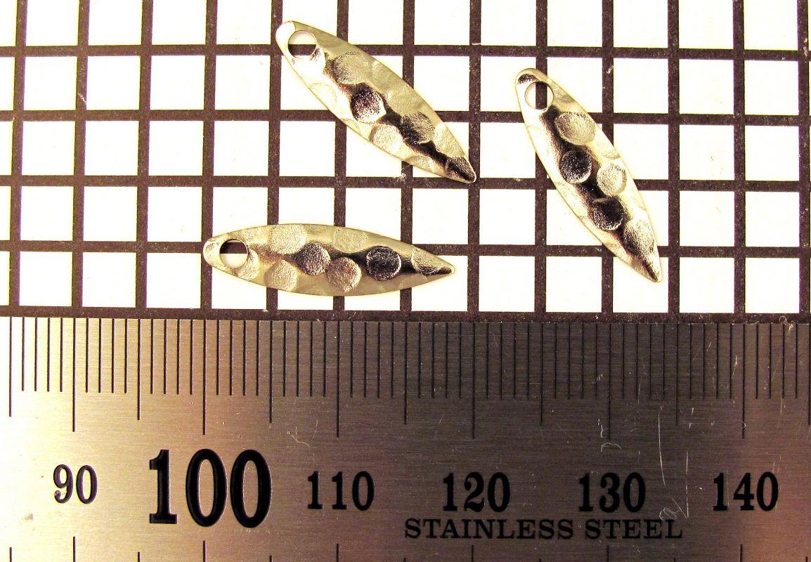 Křidélko díl lístek třpytka - Křidélko WILLOWLEAF velikost 1,nikl-kované
