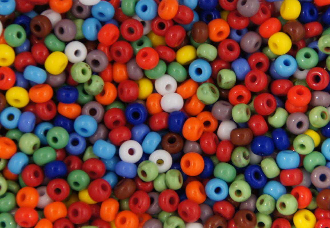 Korálek kulička díl třpytka nástraha neprůhledný mix barev