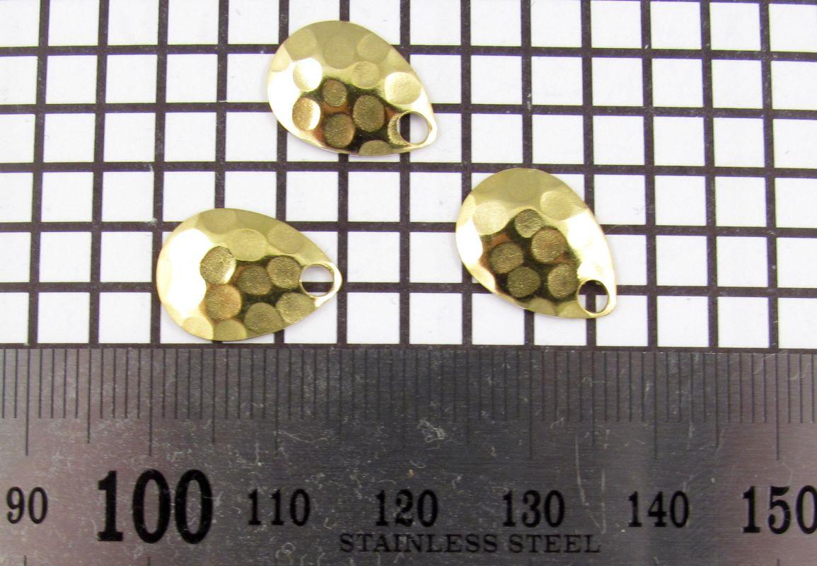 Křidélko díl lístek třpytka - Křidélko COLORADO velikost 0, mosaz-kovaný