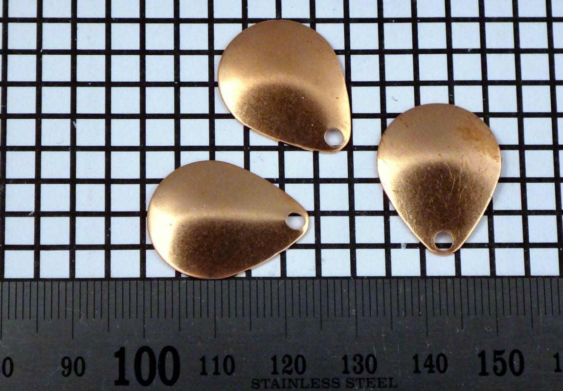 Křidélko díl lístek třpytka - Křidélko COLORADO velikost 2, měd