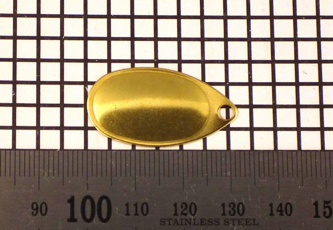 Křidélko díl lístek třpytka - Křidélko FRENCH velikost 3, mosaz