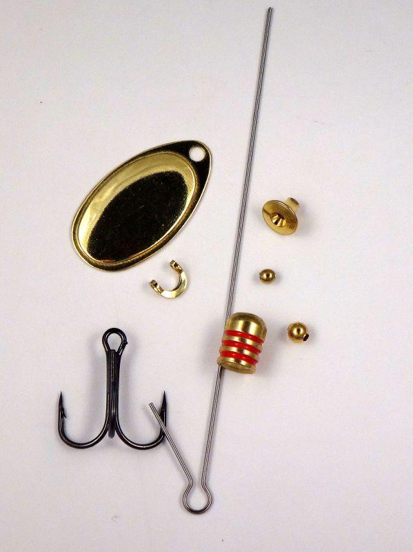 Rotační třpytka velikosti 2 mosaz, stavebnice Fishing Craft