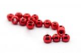 Wolframový korálek met.červený 2,5mm