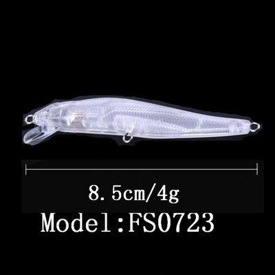 Wobler plast nebarvený polotovar přívlač nástraha